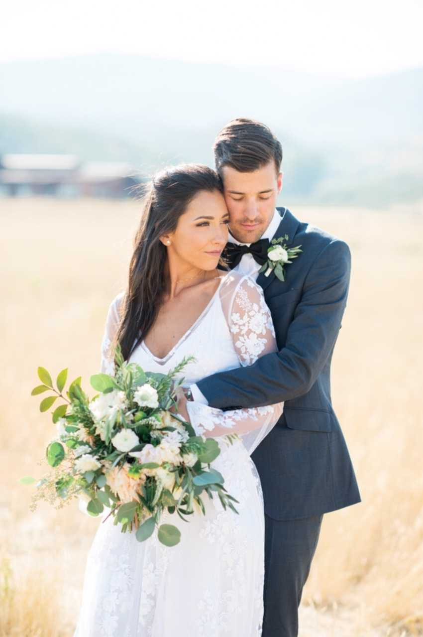 Bride Bouquet & Groom Park City Wedding Planner Shellie Ferrer Events