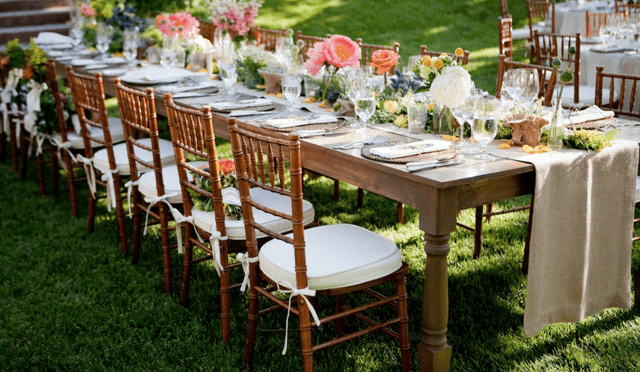 Farm Style Tables Park City Wedding Planner