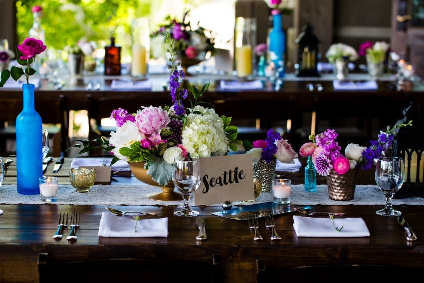 Mercury Glass Vases Centerpeices Park City Wedding Planner Shellie Ferrer Events