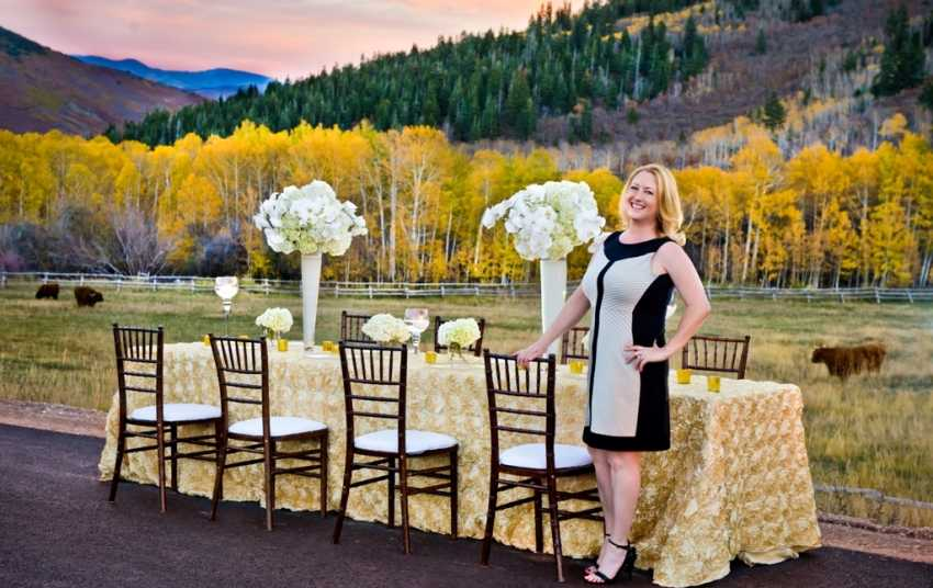 Wedding Flowers Tablescape Shellie Ferrer Luxury Wedding Event Planner Park City UT