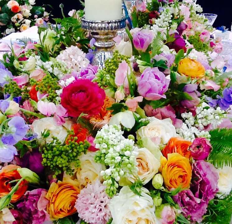 Tulips Sweet Peas Queen Annes Lace Hyacinth Park City Wedding Florist Shellie Ferrer Events