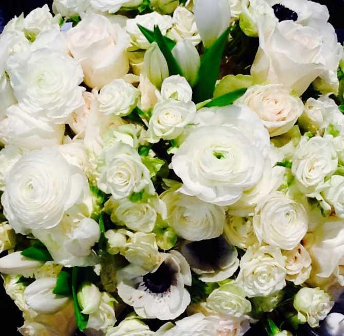 White Anemone Ranunculus Park City Wedding Florist Shellie Ferrer Events