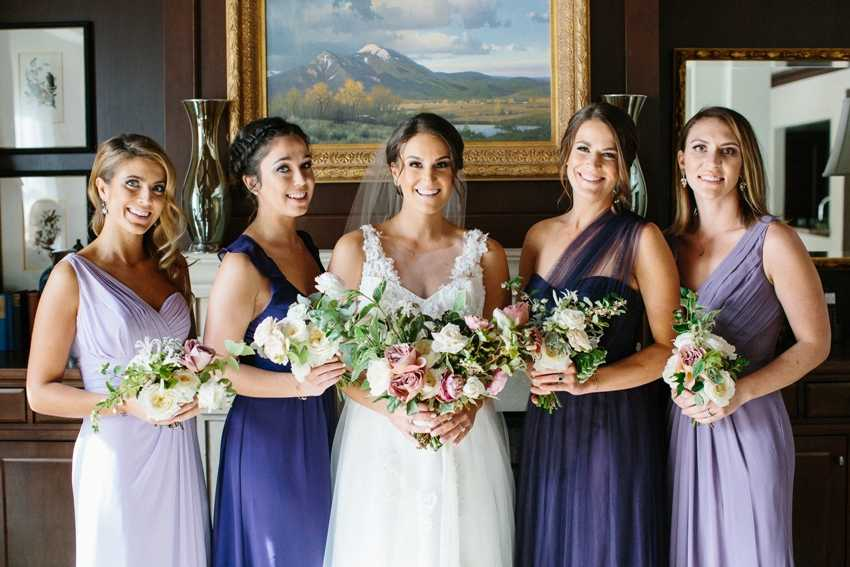 Bridal Party Bridesmaid Dresses Park City Wedding Planner Shellie Ferrer Events