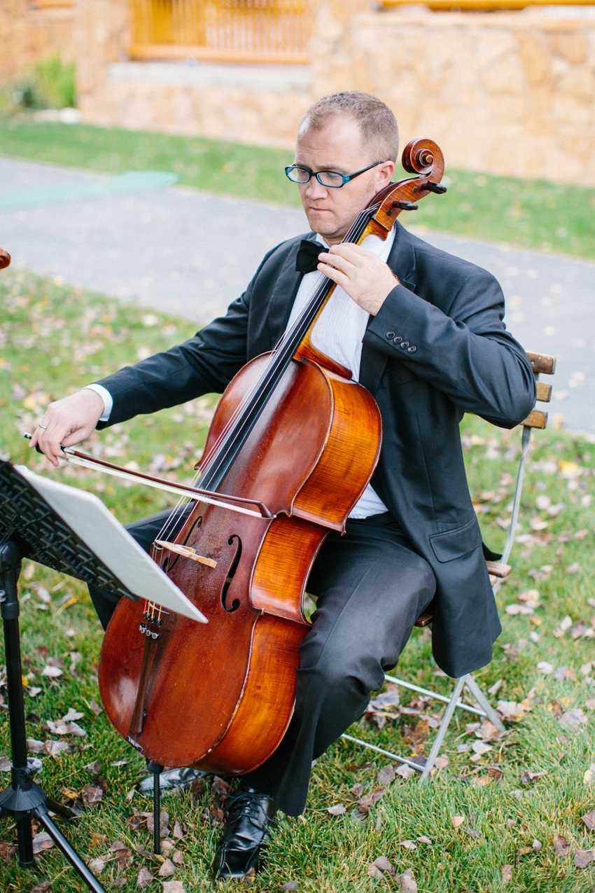 Cellist Wedding Ceremony Park City Wedding Planner Shellie Ferrer Events