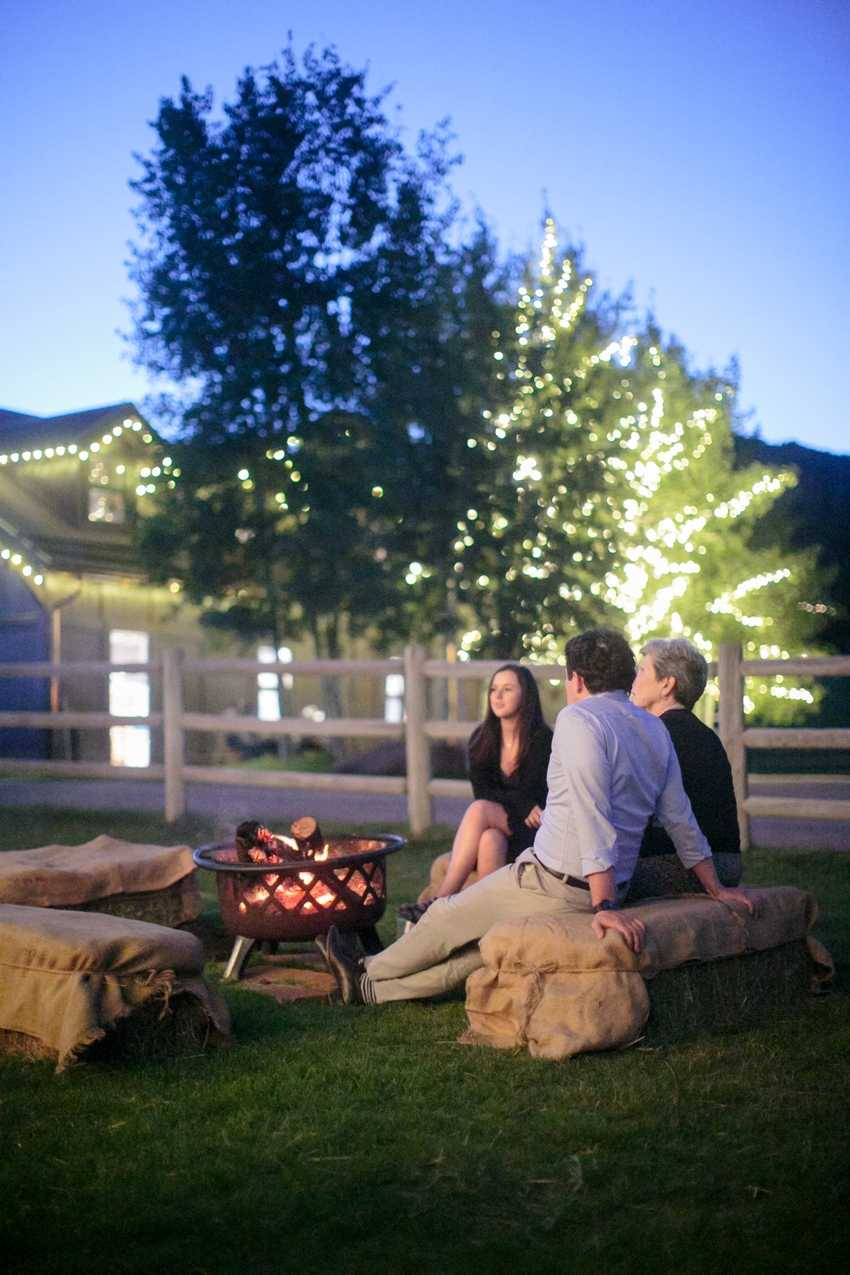 Wood Burning Fire Pit Park City Ranch Wedding Planner Shellie Ferrer Events