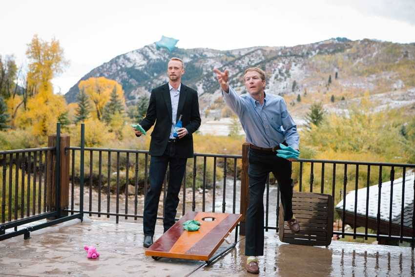 Corn Hole Wedding Activities Park City Wedding Planner Shellie Ferrer Events
