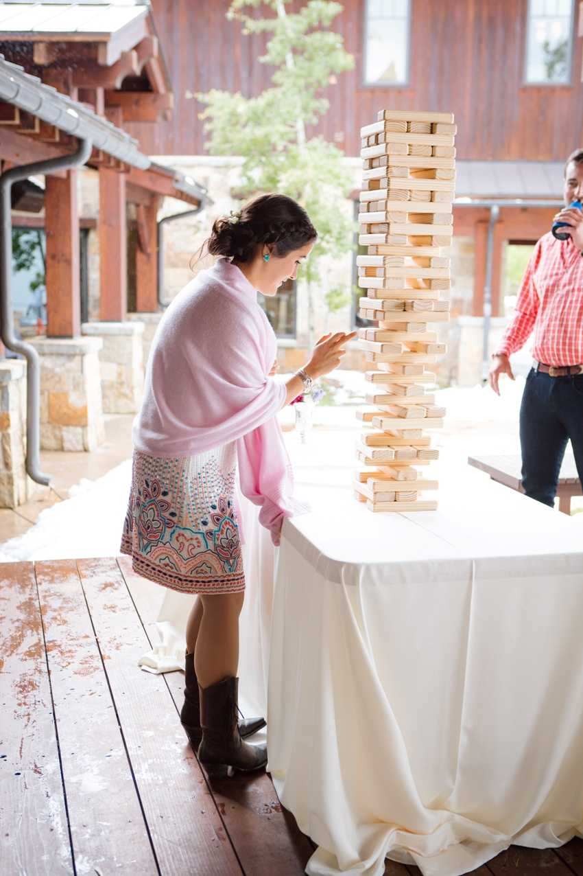 Giant Jenga Park City Wedding Planner Shellie Ferrer Events