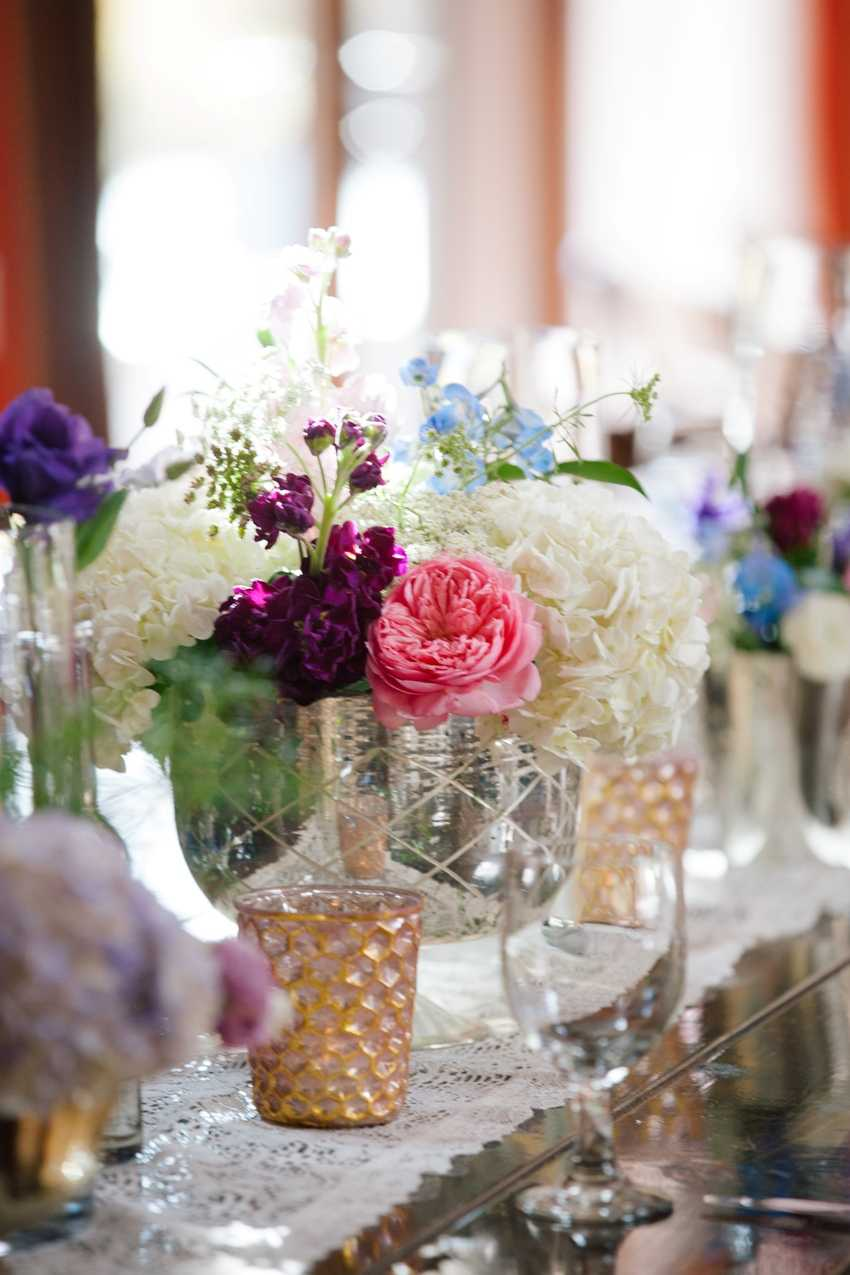 Mercury Glass Floral Centerpieces Park City Event Designer Shellie Ferrer Events