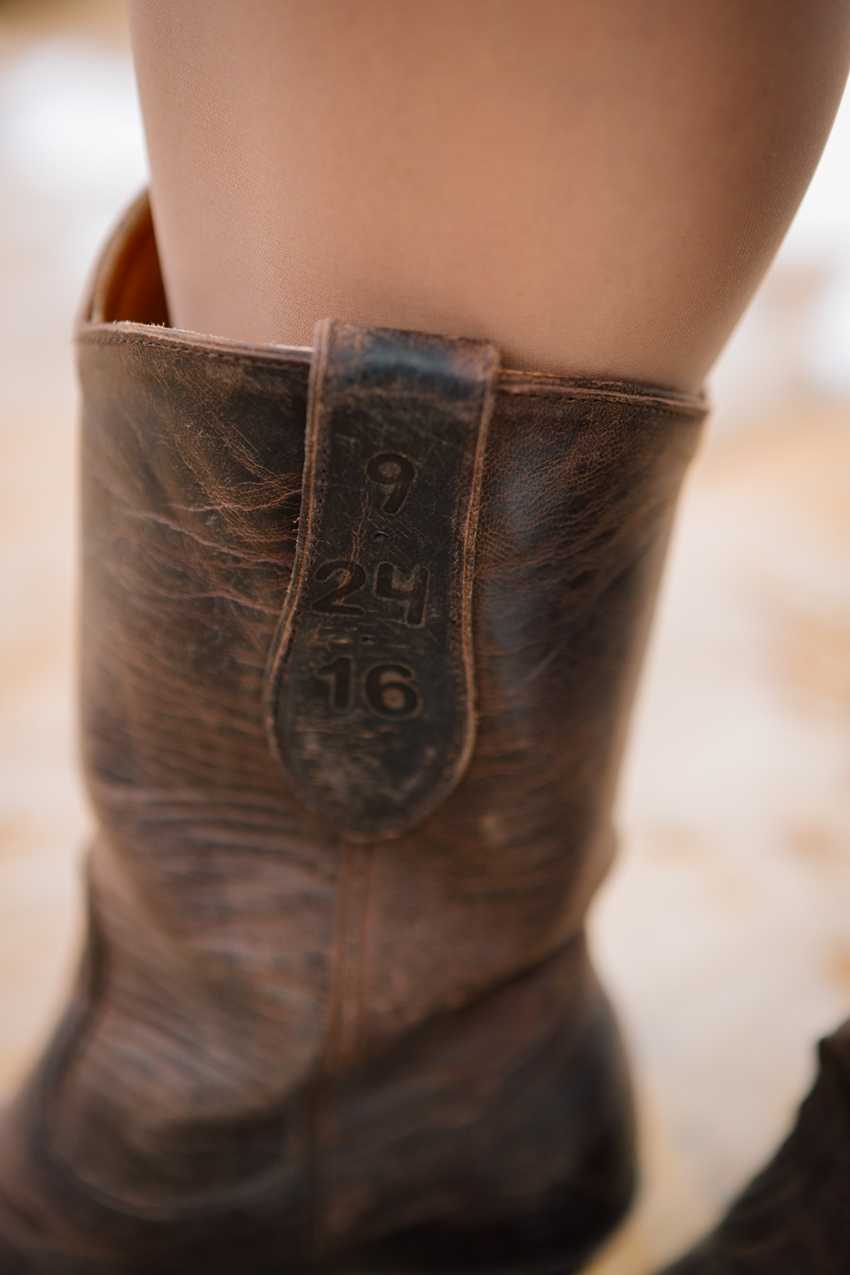 Wedding Date Branded Cowgirl Boots Park City Wedding Planner Shellie Ferrer Events